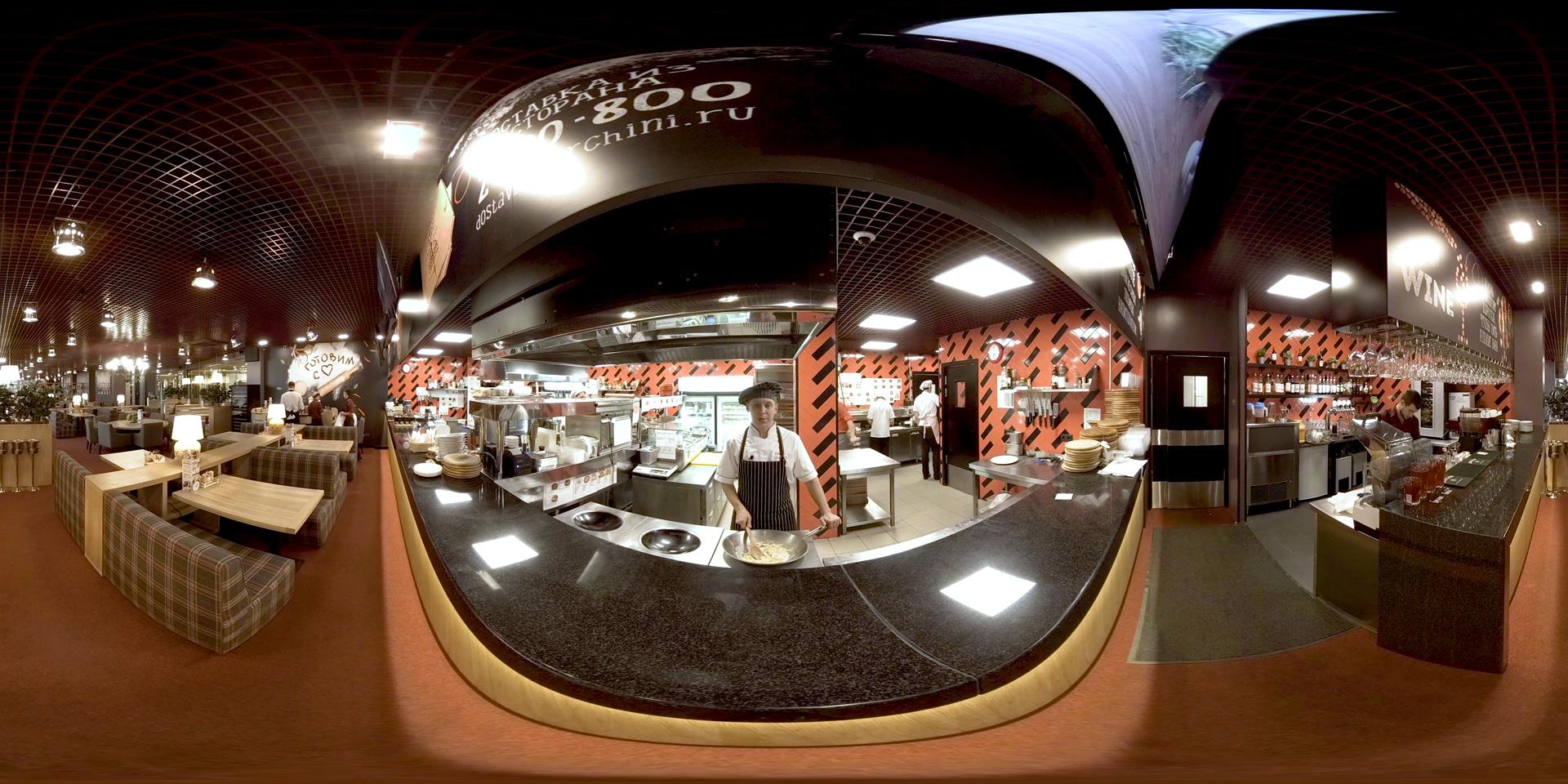 360 VR промо-ролик на выставку франшиз для сети ресторанов Перчини. В нем представлена атмосфера заведения и нюансы обслуживания