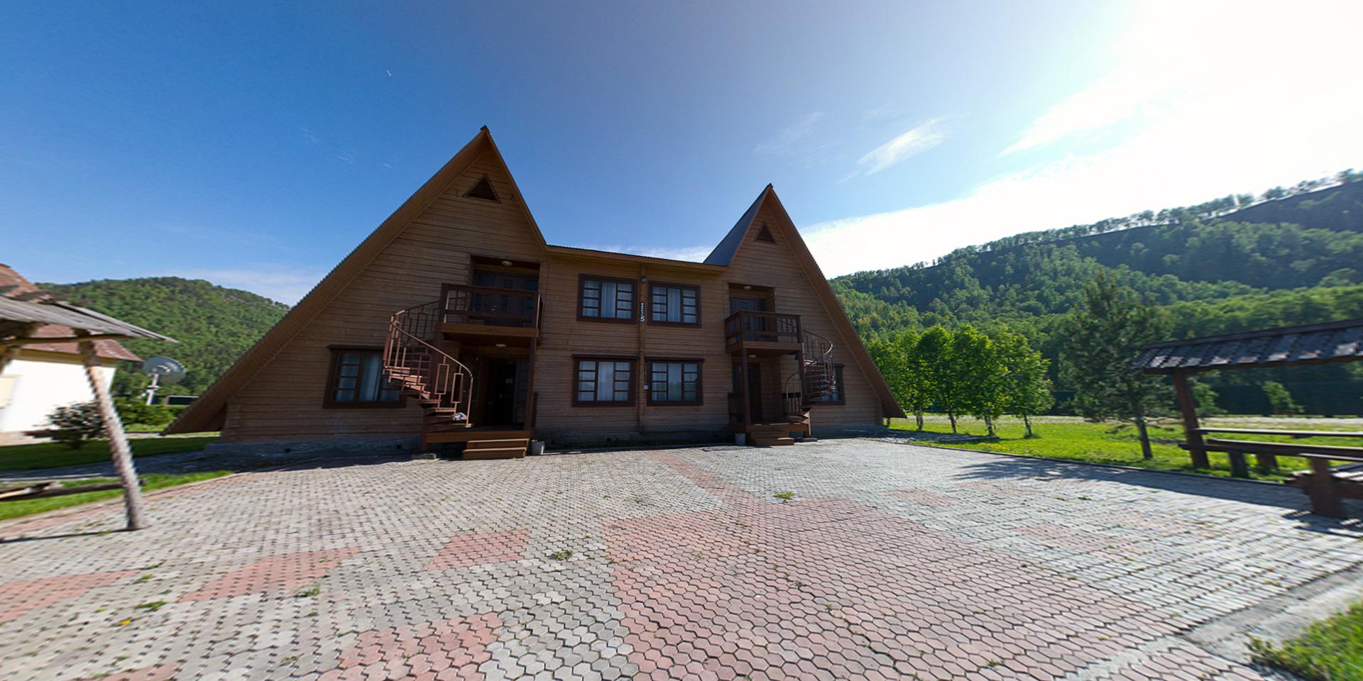 360° виртуальный тур из 3х 3D панорам по базе отдыха Талда, Алтай