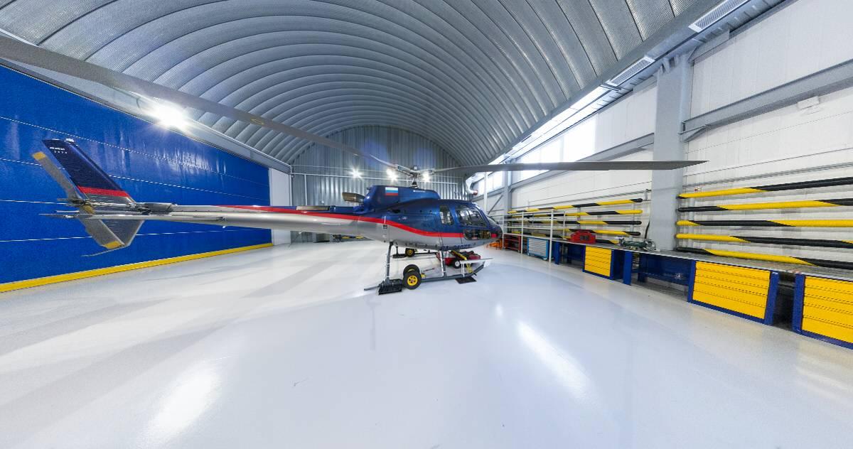 Виртуальный тур из 10-и 3D панорам по Вертолётной компании РосИнсталАвиа - Хелипорт Новосибирск (Барлак)