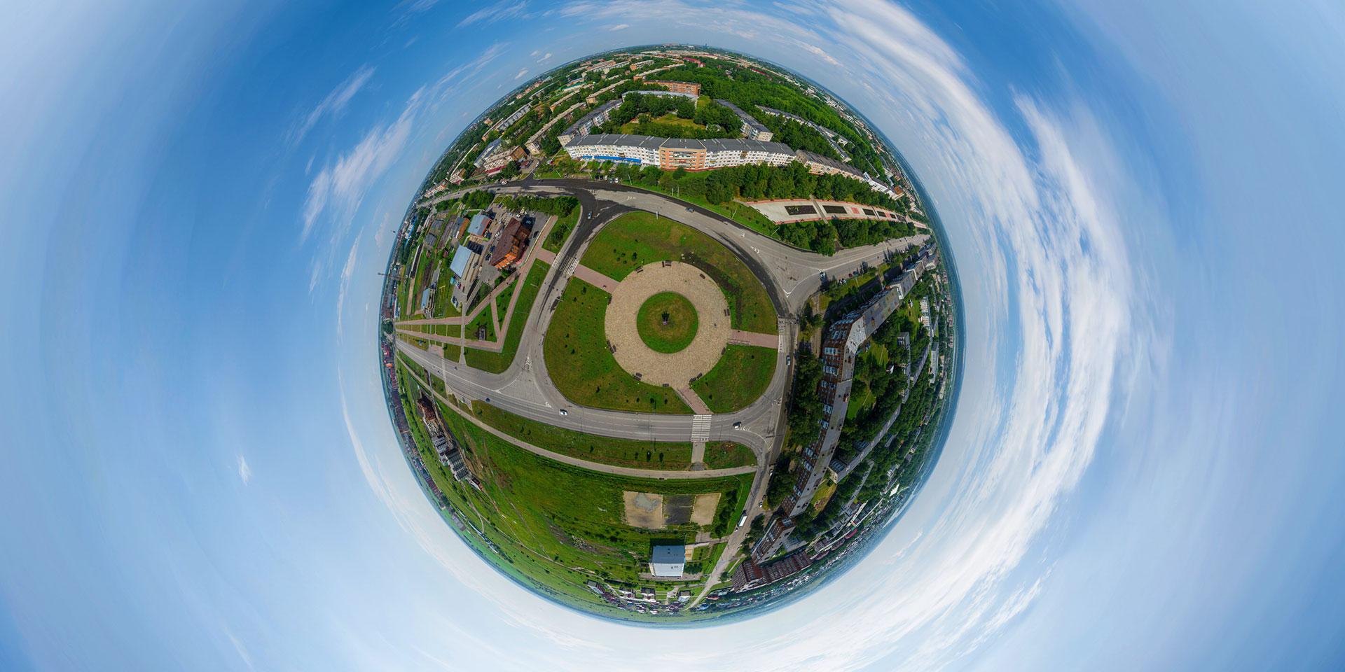 360° виртуальный тур из пяти 3D панорам над городом Юрга (Кемеровская область)
